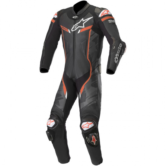 Tuta ALPINESTARS GP Pro V2 Professional for Tech-Air Black Camo / Red Fluo