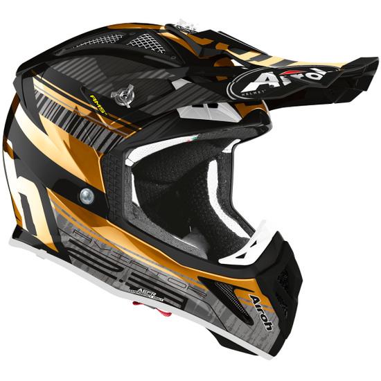 AIROH Aviator 2.3 AMS2 Novak Chrome Gold Helmet