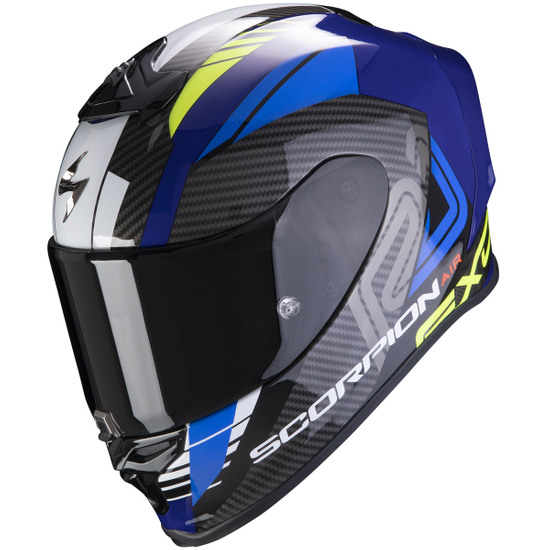 Casco SCORPION Exo-R1 Air Halley Blue / Yellow Fluo