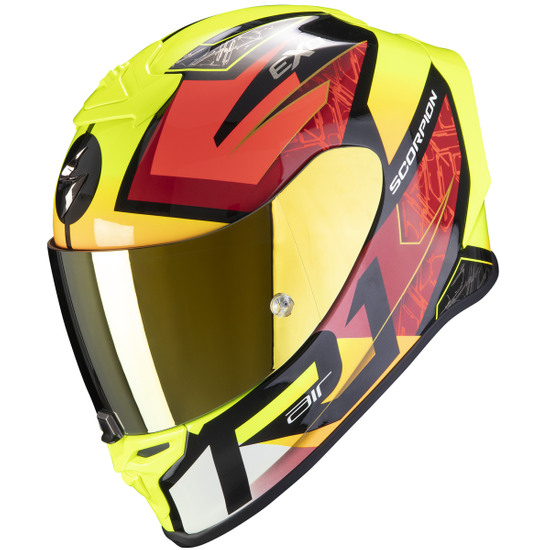 Casco SCORPION Exo-R1 Air Infini Black / Red / Yellow Fluo