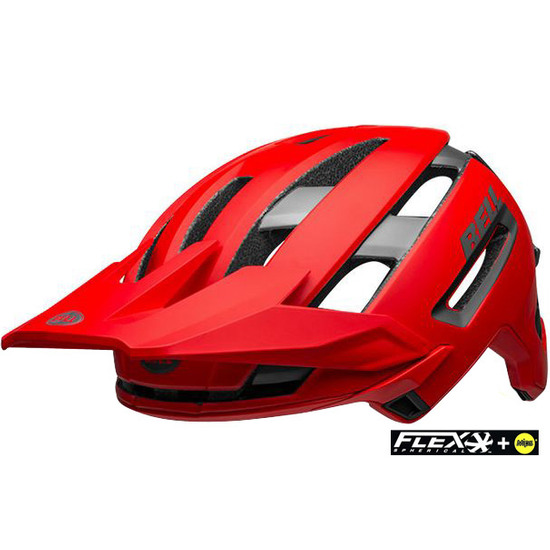 Casco BELL Super Air Mips Matte - Gloss Red / Grey