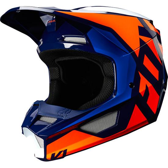 Casque FOX V1 Prix 2020 Lovl SE Orange / Blue