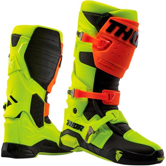THOR Radial Flo Orange / Flo Yellow Boots