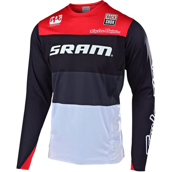 Bike Trikot TROY LEE DESIGNS Sprint Elite Beta Sram Team Black / Red