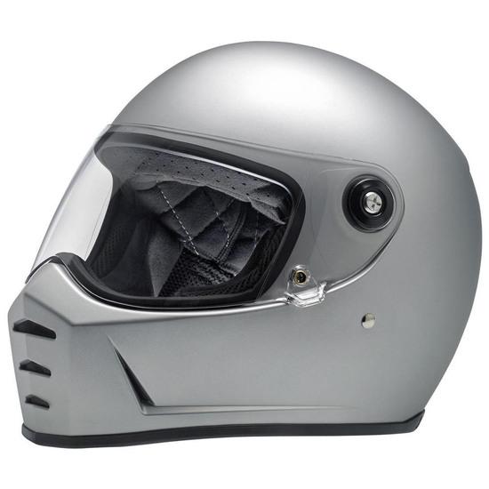 Helm BILTWELL Lane Splitter Flat Silver