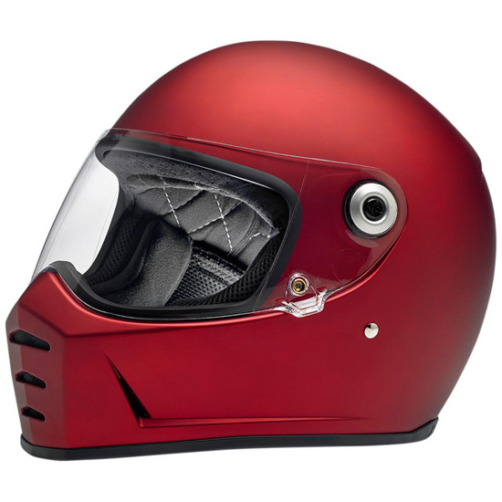 BILTWELL Lane Splitter Flat Red Helmet