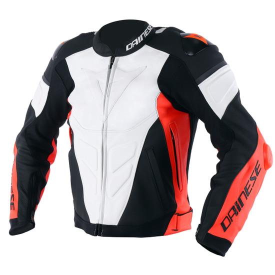 Chaqueta DAINESE Super Race White / Fluo-Red / Black-Matt