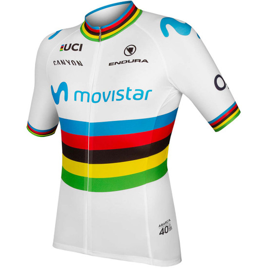 Maillot ENDURA Movistar Team World Champs S/S Limited Edition White