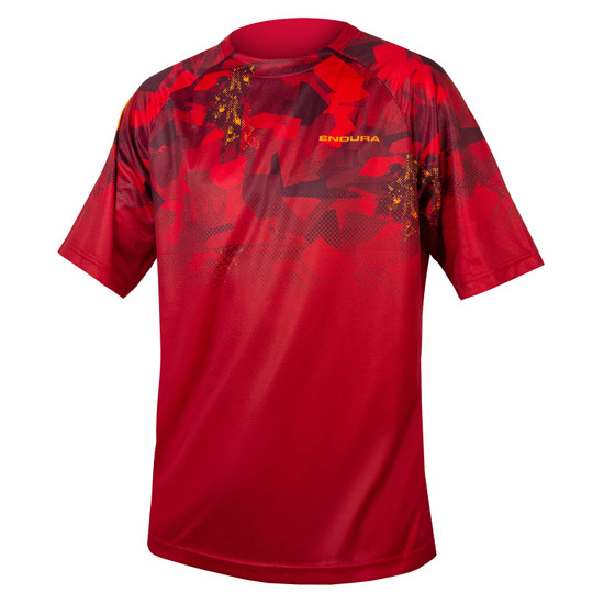 Maillot ENDURA SingleTrack Print T Limited Edition Rust Red