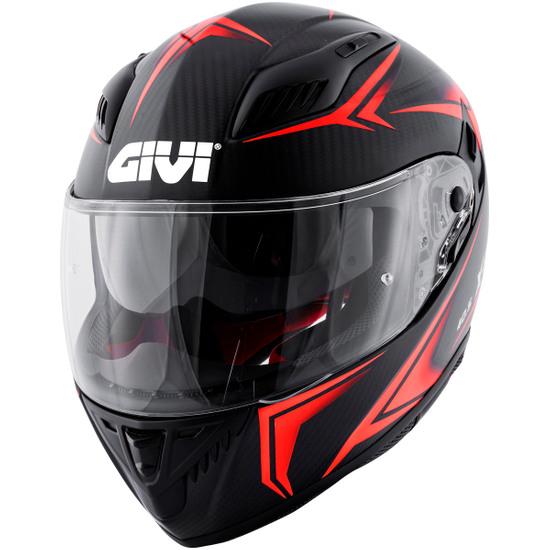 Helm GIVI 40.5 X-Carbon Grey / Neon Red