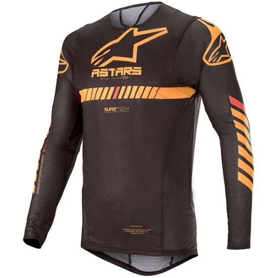 Camiseta ALPINESTARS Supertech 2020 Black / Orange / Red Fluo