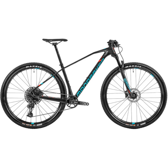 """Bicicleta de montaña MONDRAKER Chrono Carbon 29"""" 2020 Carbon / Blue Sky / Flame Red"""
