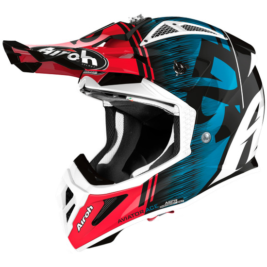 Casco AIROH Aviator Ace Kybon Blue / Red