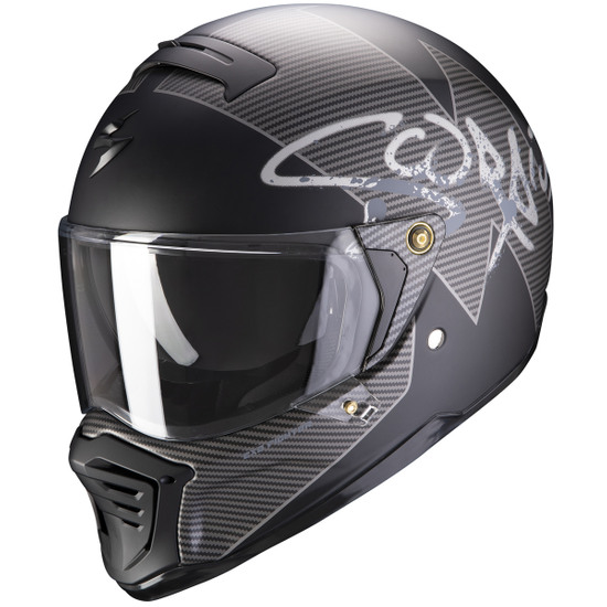 Casco SCORPION Exo-Fighter Taktic Matt Black / Silver
