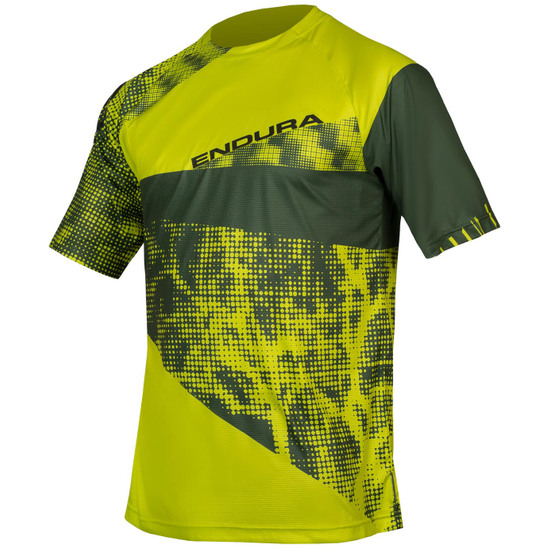 Camisola ENDURA SingleTrack Dots T Limited Edition Lime Green