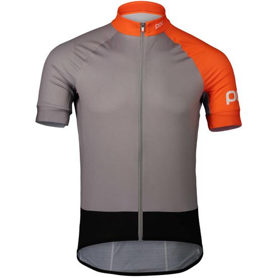 Camisola POC Essential Road Granite Grey / Zinc Orange