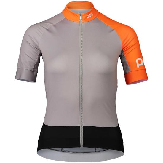 Camisola POC Essential Road Lady Granite Grey / Zink Orange